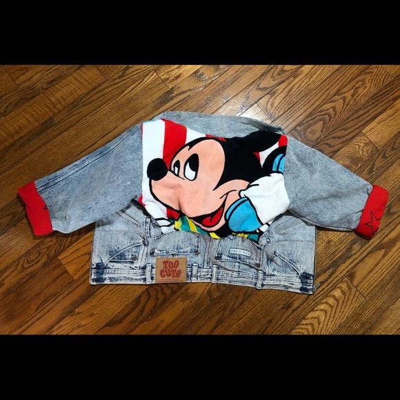 Vintage Too Cute Acid Wash Guetta Disney Jacket xs